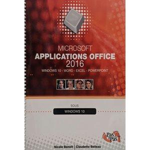 Application office 2016 sous windows 10