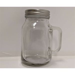 Masson jar with straw
